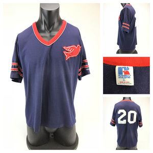 Russell Athletic 1980s striped sleeve Dove jersey
